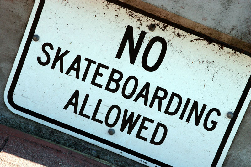 no fucking skating