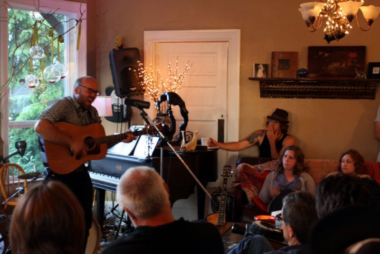 45 people gathered in a Tacoma home for the first concert in The Warehouse summer concert series