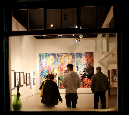 January 2012 exhibition seen from Fulcrum's exterior