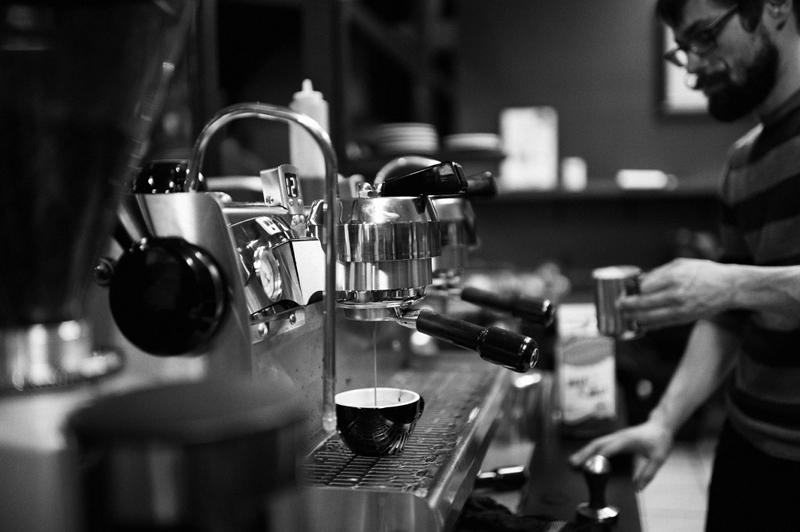 Espresso pulled from Valhalla's Synesso espresso machine