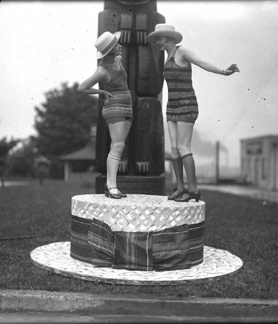 The Fireman's Park Totem Pole in happier times