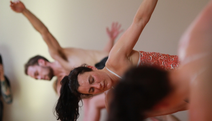 Hot yoga practitioners at Expand Yoga in downtown Tacoma