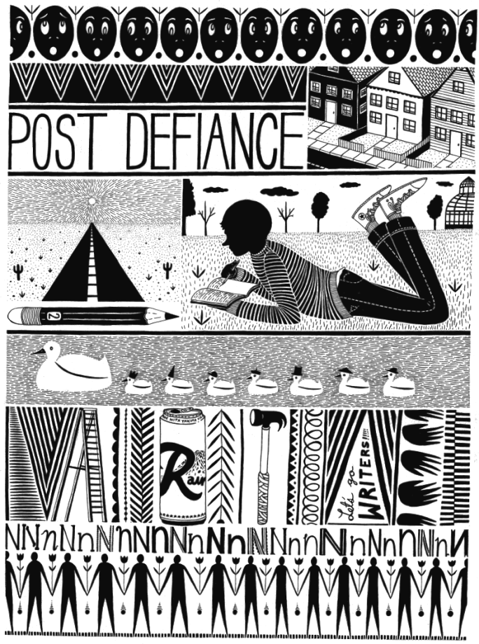 Post Defiance design by artist Sean Alexander