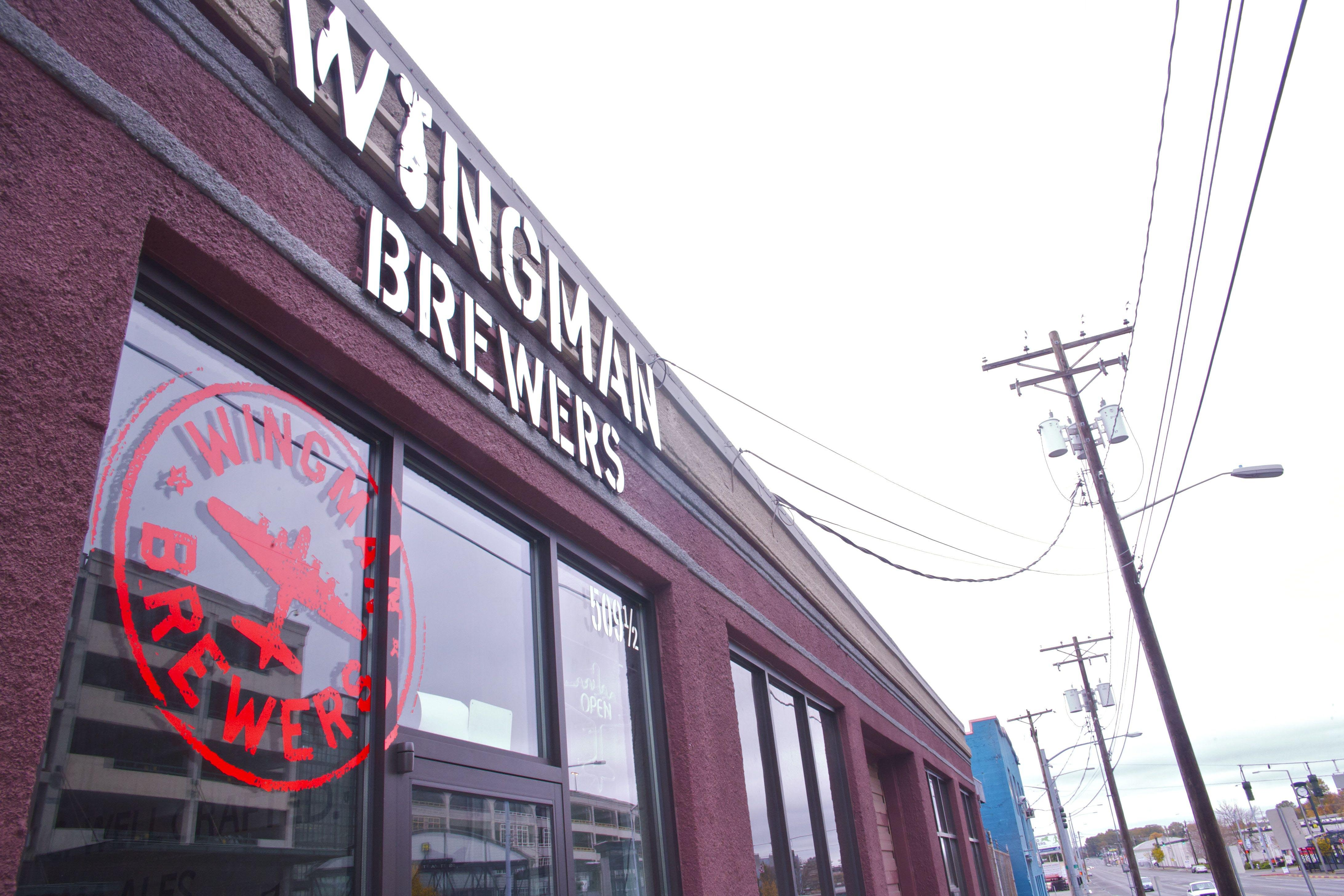 The Wingman Brewing tap room on Puyallup Avenue, near the Tacoma Dome