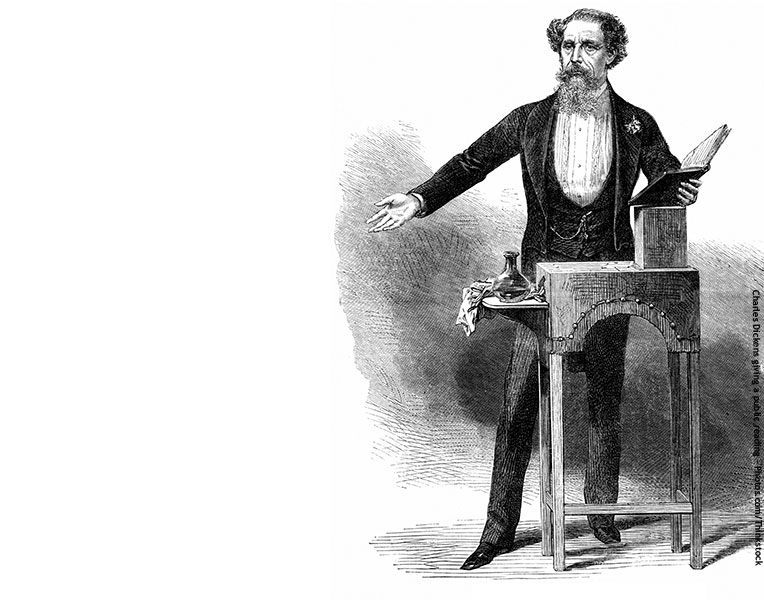 The original holiday orator, Charles Dickens