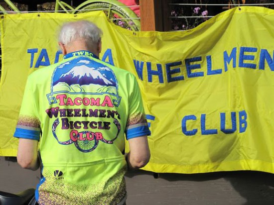 One Tacoma Wheelman attending a Bike Month 2010 event. Photo courtesy of Carla Gramlich