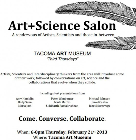 Information for the first Art+Sci salon in February 2013.