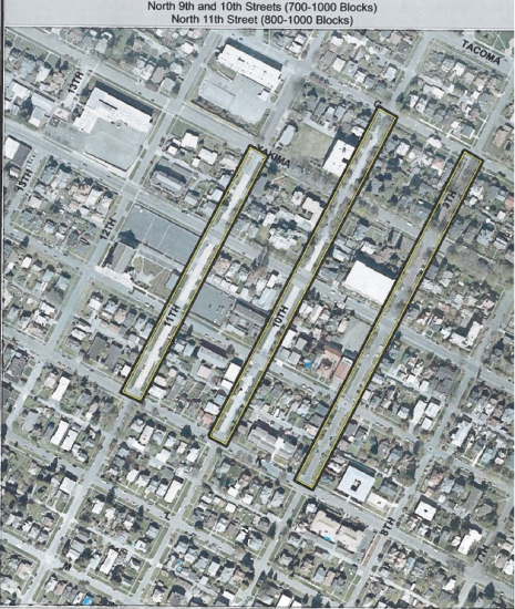 Map Depicting Stone-paved Streets Proposed for Historic Status