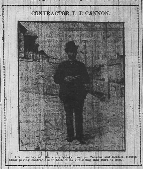 Contractor T.J. Cannon, as photographed in a contemporary newspaper
