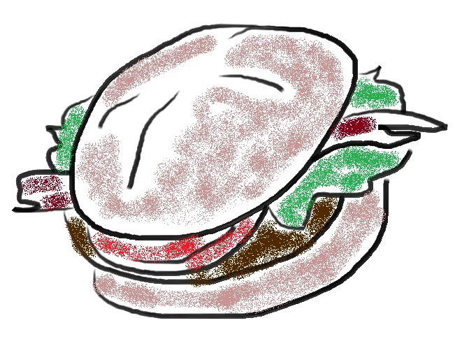 Have you ever seen a hamburger? Sure you have! Here is a picture of one, just in case.