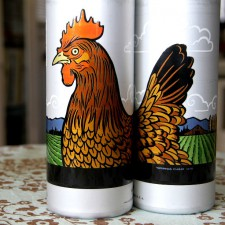 Chandler O'Leary designed this chicken-tastic water bottle exclusively for the Tacoma Co-Op.