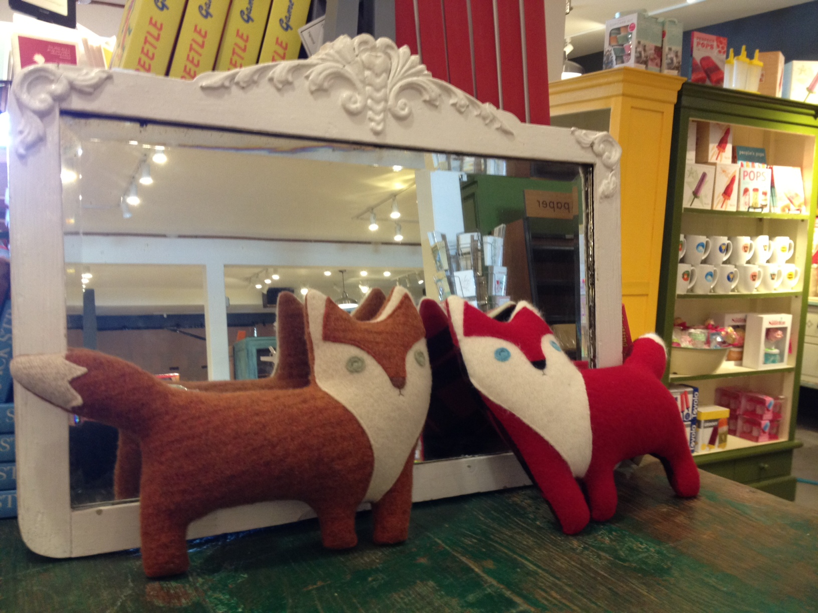 Photo of fox dolls.
