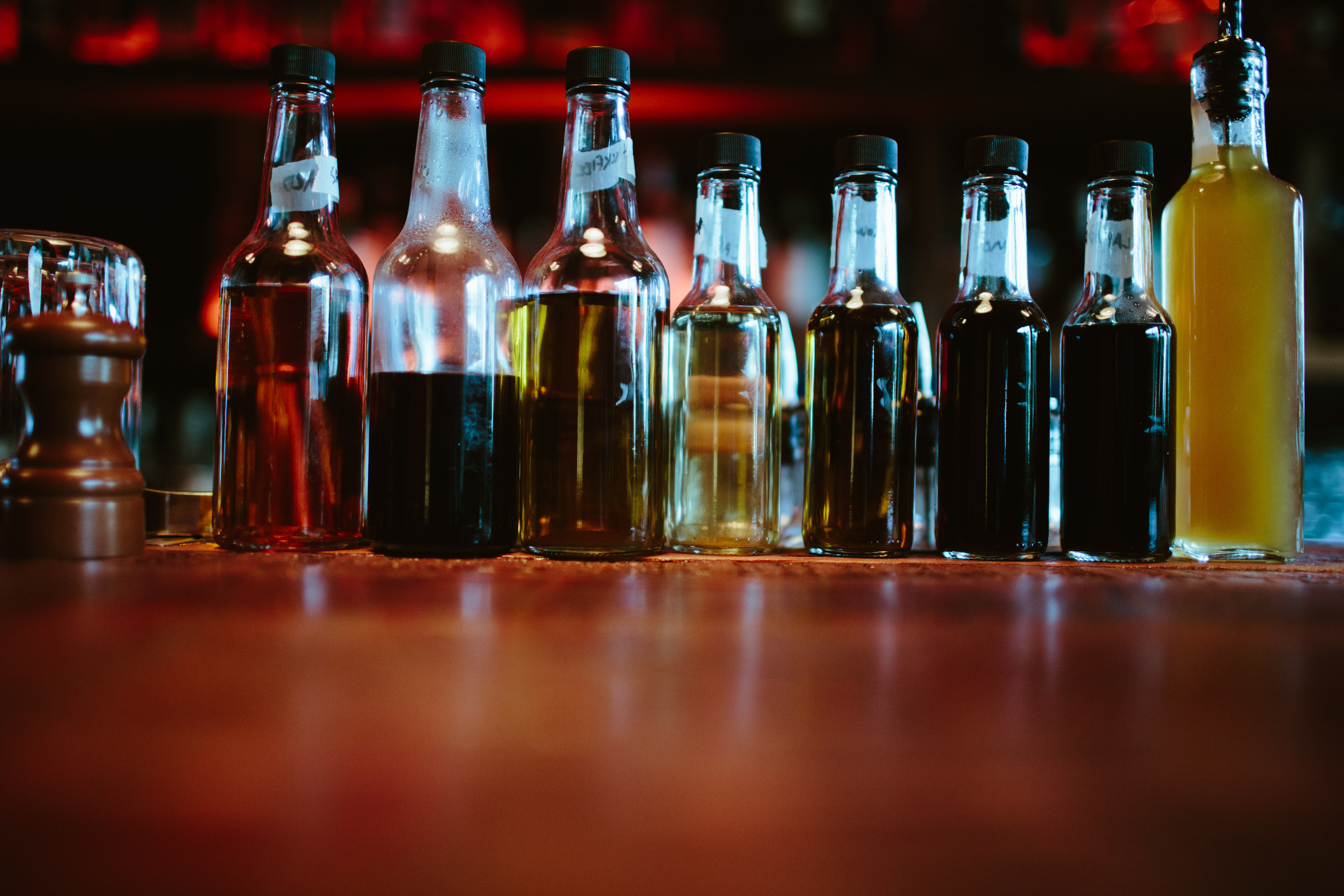 Tinctures of housemade bitters