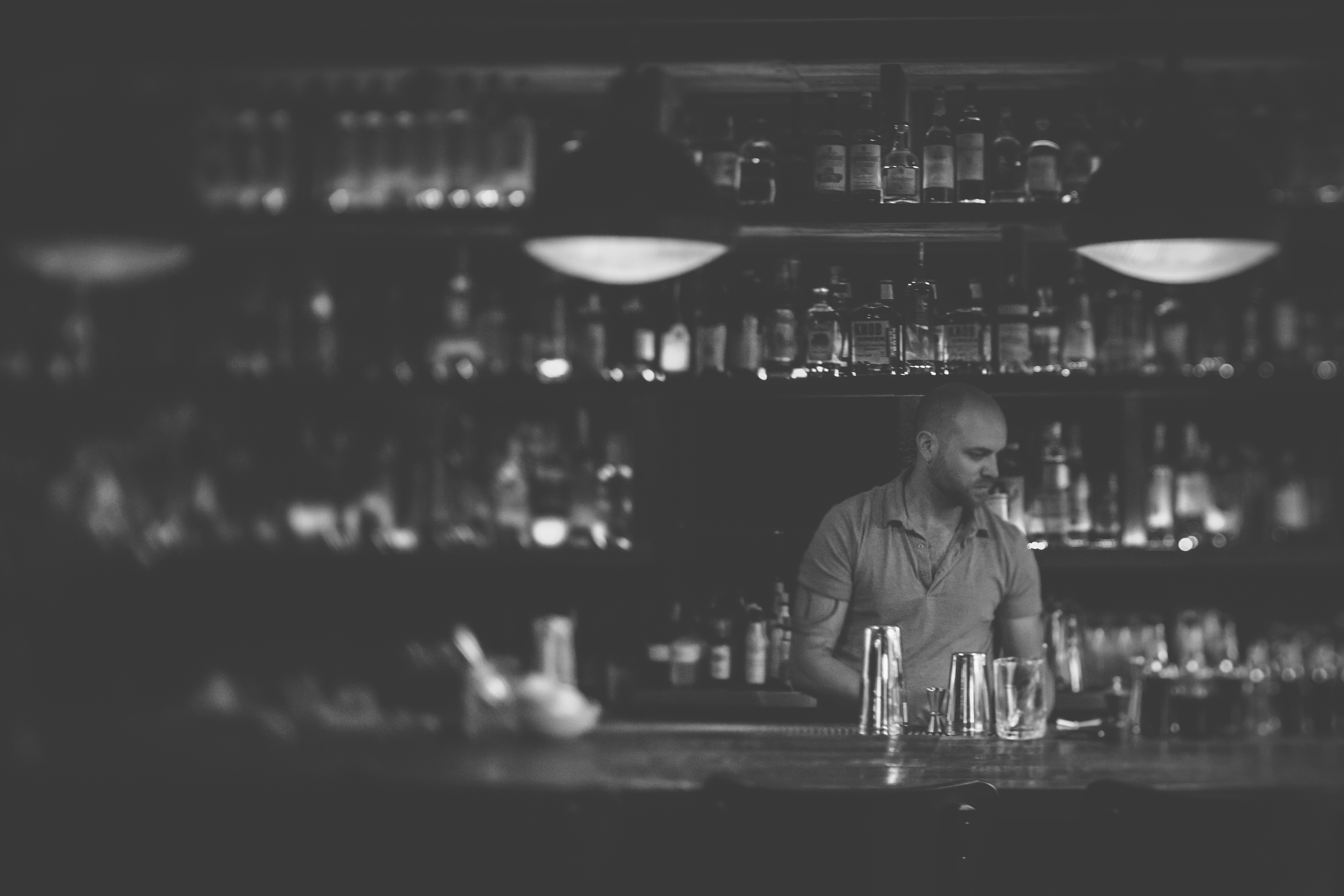 Chris Keil and the Hilltop Kitchen back bar