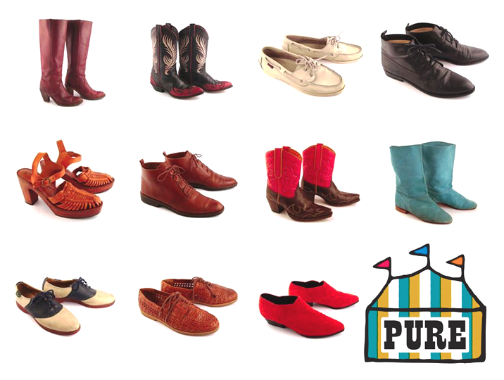 Just a small selection of the shoes available at Pure Vintage.
