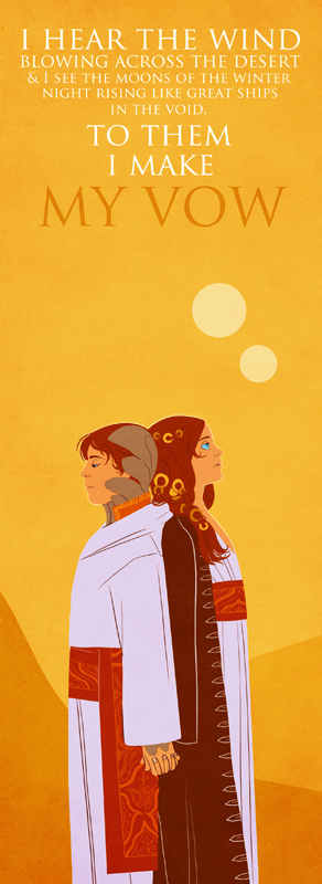 Twin siblings Leto II and Gahnima Atreides by Emily Carroll