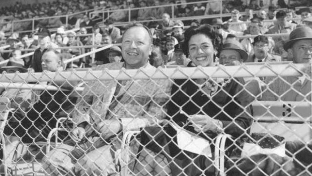 Ben and Marian Cheney at a Tacoma Giants game, 1960