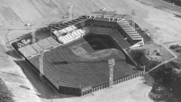 Cheney Stadium, aerial view