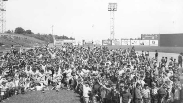 Tacoma Twins baseball clinic in 1972