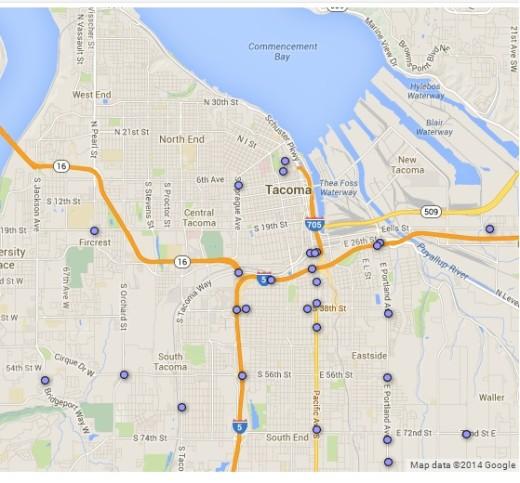 Tacoma Pedestrian Fatalities '03-12