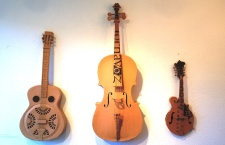 Cardboard and glue guitars by Jon Almeda