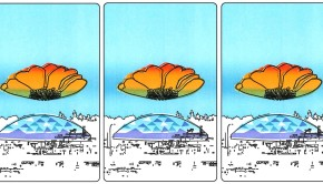 L kagey Tacoma Dome triptych
