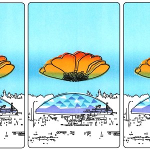 L kagey Tacoma Dome triptych