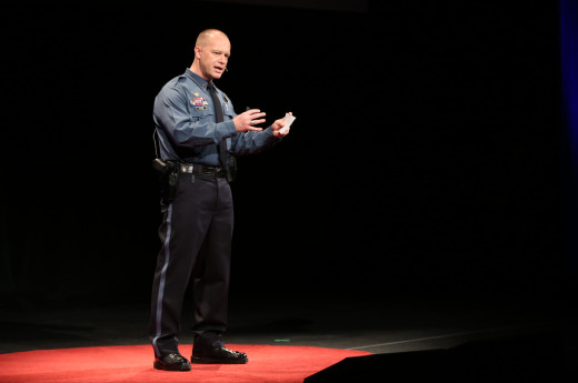 "Charles ""Chip"" Huth speaking at TEDx Tacoma on Saturday, March 21, 2015. (Photo: John Froschauer/PLU)"