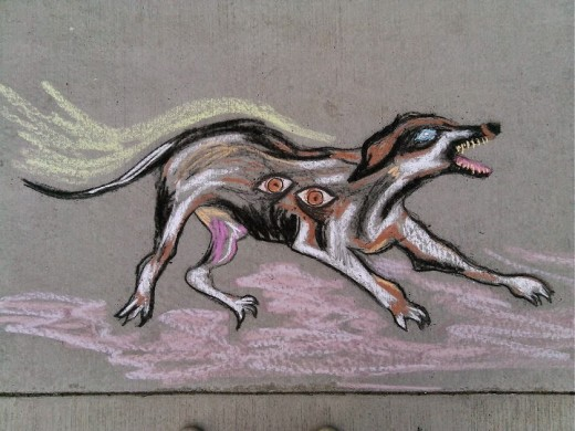 Cerberus, one of Troy's chalkings.