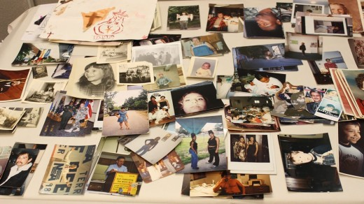 "Just a small assortment of the photographs Isaac Olsen collected for ""It Takes a Village."""