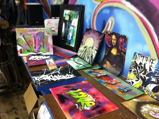 A sample of artwork from FAB 5 participants in the Fabitat programs.