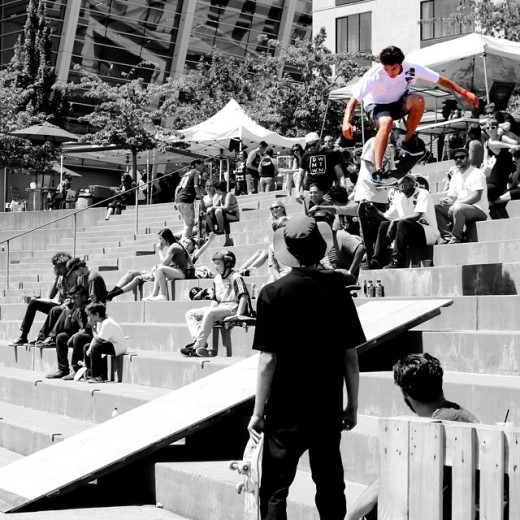 Scene from the 2015 Go Skate Tacoma in downtown Tacoma. by instagram user @2ft_tacoma
