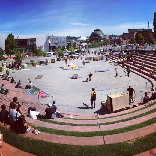 Scene from the 2015 Go Skate Tacoma in downtown Tacoma. by instagram user @isaac_thomas