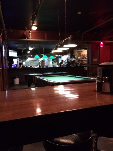 The pool tables at DOA on 6th Avenue