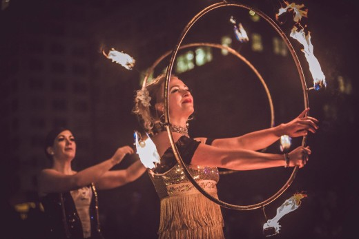 Fire dancers at the 2015 First Night. Photo by Scott Haydon